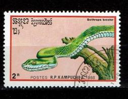 Postzegel Met Slang Kampuchea - Serpents