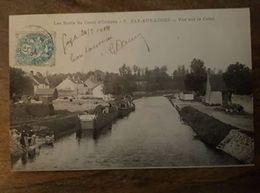45 - CPA Animée, Péniche, FAY-AUX-LOGES (Loiret) - Vue Sur Le Canal (Les Bords Du Canal D'Orléans) - 1904 - Frankrijk