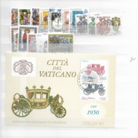 1985 USED Year Complete - Vaticano
