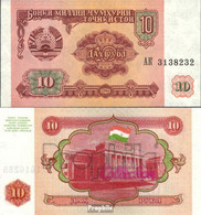 Tadschikistan Pick-Nr: 3a Bankfrisch 1994 10 Rubles - Tadschikistan