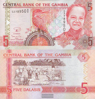 Gambia Pick-number: 25, Signature 17 Uncirculated 5 Dalasis - Gambia