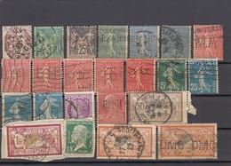 11573-LOTTICINO DI N°. 37 FRANCOBOLLI PERFIN - USATI - FRANCIA - Francia