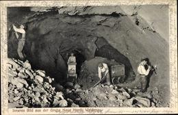Cp Weidenau Siegen Nordrhein Westfalen, Inneres Bild Aus Der Grube Neue Hardt, Bergarbeiter, Loren - Germany