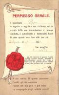 [DC11459] CPA - PERMESSO SERALE - Viaggiata - Old Postcard - Cartoline