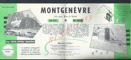 DEPLIANT PUBLICITAIRE HÔTEL BIVOUAC NAPOLÉON Md ISSAURAT & Mr BILLON À MONTGENÈVRE : - Advertising