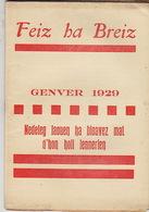Feiz Ha Breiz. Genver 1929. N° 1. - Livres, BD, Revues