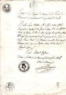MANCENANS  (Doubs) 1816   Papier Timbré De Dimension N°D80+D75 + Cm2   Restauration - Manuscripts