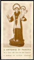 SANTINO - S.Antonio Di Padova - Santino Con Orazione. - Images Religieuses