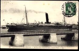 Cp La Pallice Rochelle, Arrivée D'un Paquebot Dans L'Avant Port - Bateaux