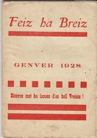 Feiz Ha Breiz. Genver 1928. N° 1 - Livres, BD, Revues