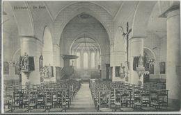 Houttave.   -    De Kerk   -   1914   Naar  Menen - Zuienkerke