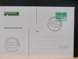74/568  BRIEFKAART   NED.  WIJZIGING TELEFOONNUMMER FDC  1990 - Postal Stationery