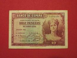 Espagne - Spain 10 Pesetas 1935 Pick 86a - TTB / VF ! (CLN149) - [ 4] 1975-… : Juan Carlos I