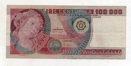 """Italia - Banconota Da Lire 100.000 """" Botticelli """" - Decreto 20.06.1978 - (FDC8126) - [ 2] 1946-… : Repubblica"""