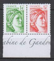 FRANCE  2017  N°5179/5180  PAIRE DU BLOC  ___NEUF**VOIR SCAN - Unused Stamps