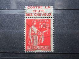 """VEND BEAU TIMBRE DE FRANCE N° 283 , TYPE IIA + BANDE PUBLICITAIRE """" HAHN """" !!! (b) - Publicités"""