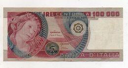 """Italia - Banconota Da Lire 100.000 """" Botticelli """" - Decreto 01.07.1980 - (FDC8127) - [ 2] 1946-… : Républic"""
