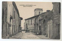32 - CASTERA-LECTOUROIS - Eglise Et Grand'rue - Pub. Menier - - France