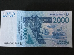 W.A.S. BENIN P216Bn 2000 Francs (20)14 VF No Tear,no P.h. - Bénin
