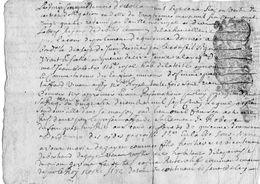 CACHET DE GENERALITE QUART DE FEUILLE 1706   JEAN BALESTE HABITANT DE LA TESTE - Seals Of Generality