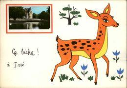 44 - ISSE - Carte Avec Petite Vue - Chateau - Illustrée Par Jean De Preissac - Biche - France