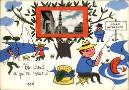 44 - ISSE - Carte Avec Petite Vue - Illustrée Par Jean De Preissac - Pêche à La Ligne - France