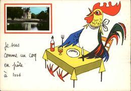 44 - ISSE - Carte Avec Petite Vue - Illustrée Par Jean De Preissac - Coq - France
