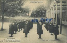 Schilde 's Gravenwezel. Pensionnat Du Saint Coeur De Marie.  Une Classe En Gymnastique       (  1910 Met Zegel ) - Schilde