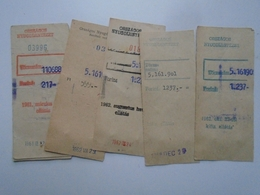 OK42.12 Hungary  Receipt -  ( 6 Pcs)  1961-62 - Facturas & Documentos Mercantiles