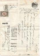 PROTET LARROQUE HUISSIER A LA TESTE 1874 GUJAN MESTRAS TIMBRE DE DIMENSION FRANCE COPIE 50 - Seals Of Generality