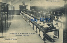 Schilde 's Gravenwezel. Pensionnat Du Saint Coeur De Marie.  Salle De Toilette        (  1910 Met Zegel ) - Schilde