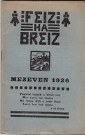 Feiz Ha Breiz. Mezeven 1926. N° 6. Ar C'Horn-Boud. Mezeven 1926. N° 6. - Livres, BD, Revues