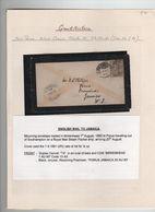 GREAT BRITAIN JAMAICA 1883 PORUS BIRKENHEAD - Stamped Stationery, Airletters & Aerogrammes