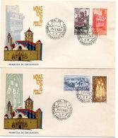2 Sobres  De Primer Dia De Monasterio De Poblet. 1963 - FDC