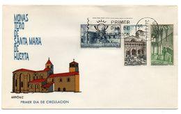 Sobre De Primer Dia De Monasterio De Santa Maria De Huerta De 1964 - FDC
