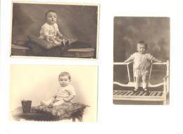 Lot De 10 Photos Cartes De Bébé - +/- 1920...1935 - Babies