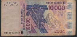 W.A.S. BENIN P218Bb 10000 Francs (20)04 F-VF No Tear,no P.h. - Bénin