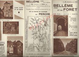 DEPLIANT PUBLICITAIRE DE BELLÊME & SA FORÊT : - Werbung