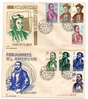 2 Sobre De Primer Dia Circulado  Forjadores  1962 - 1961-70 Briefe U. Dokumente