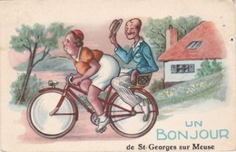 Un Bonjour De SAINT-GEORGES-sur-MEUSE - Belle Carte Fantaisie - TBE - Saint-Georges-sur-Meuse