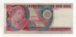 """Italia - Banconota Da Lire 100.000 """" Botticelli """" - Decreto 20.06.1978 - (FDC8129) - [ 2] 1946-… : Repubblica"""