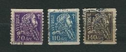 SVEZIA 1921 - 4° Centenario Della LIberazione Di Svezia / Gustav I Wasa - 3 Valori - Yt:SE 151-53 - Usati