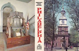 Postcard Philadelphia Independence Hall And The Liberty Bell My Ref  B11856 - Philadelphia