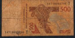 W.A.S. TOGO P819Tc 500 Francs (20)14 FINE - Togo