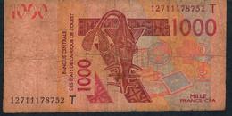 W.A.S. TOGO P815Tl 1000 Francs (20)12 FINE - Togo