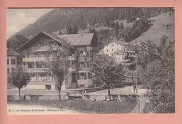 OUDE POSTKAART ZWITSERLAND  -  SCHWEIZ - SUISSE -    CHATEAU-D'OEX - PENSION RICHEMONT - VD Vaud
