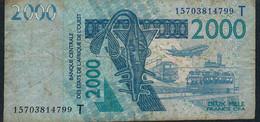W.A.S. TOGO P816To 2000 Francs (20)15 F-VF - Togo