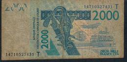 W.A.S. TOGO P816Tn2000 Francs (20)14 FINE - Togo