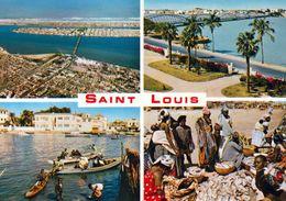 """1 AK Senegal * Ansichten Von Saint-Louis, Dabei Die Brücke """"Pont Faidherbe"""" - Seit 2000 UNESCO Weltkulturerbe * - Senegal"""