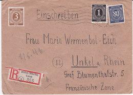 Röbel, 1945, Mi 911+913+935, Recommandé( 18003/076) - Amerikaanse-en Britse Zone
